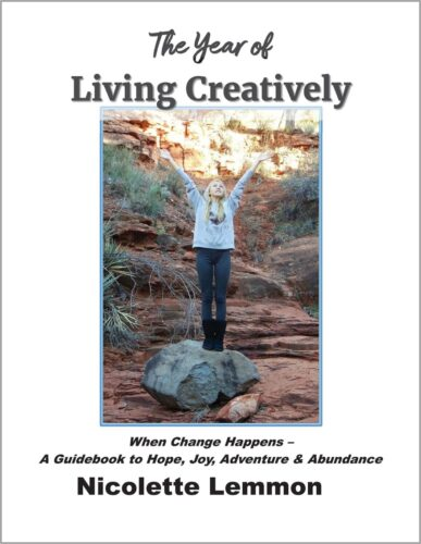 The Year of Living Creatively - When Change Happens White Cover-boxed